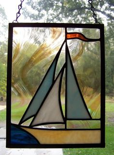 PATTERN for Stained Glass Sailboat by TaraSawchuk on Etsy