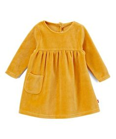 Another great find on #zulily! Caramel Velour Pocket A-Line Dress - Infant #zulilyfinds
