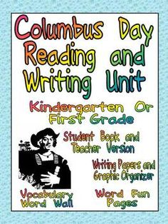 Finding materials to teach young students about Columbus Day is always tough; it is also very difficult to devote a large block of time to social studies, especially with the increased expectations for literacy in the Common Core State Standards. This unit will allow you to work on reading and writing informational text while still discussing and celebrating Columbus Day!!  Click for details ...