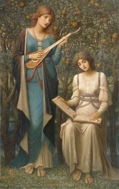 John Melhuish Strudwick (British, 1849-1937)When Apples Were Golden and Songs Were Sweet but Summer Had Passed Away 1906