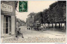 SENS - La Place Saint Pierre le Vif Enseigne Bureau OCTROI Superbe Tramway en Attelage Gare St Savinien
