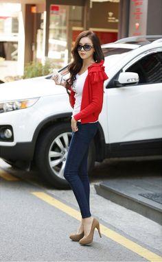 Pants Leggings - The Hallyu, Real Korean Fashion, Real Korean Style Fashion Moda, Daily Fashion, Womens Fashion, Daily Style, My Style, Ulzzang Hair, Cool Outfits, Fashion Outfits, Denim Pants