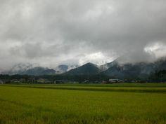 菰野町千草地区 雨雲  平成24年9月9日撮影