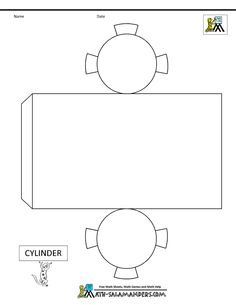 Cylinder Box 3d Geometric Shapes Geometry Worksheets Math Projects School