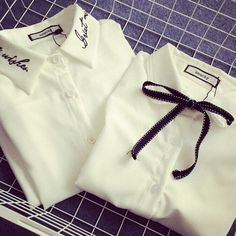 Korean Fresh White Cotton Blouse