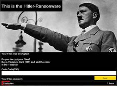 Hitler ransomware just deletes files instead encrypt them http://securityaffairs.co/wordpress/50275/malware/hitler-ransomware.html #securityaffairs #Hitler #ransomware