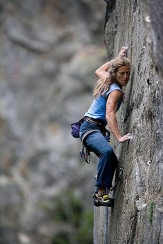 """Lynn Hill (from her bio): """"Lynn Hill is a living legend..."""" One of """"two people in the world to have succeeded in making an all free one-day ascent of The Nose"""" on El Capitan in Yosemite."""