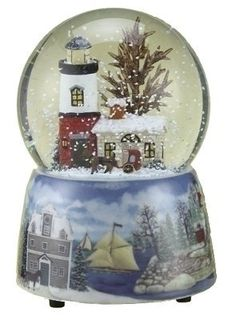 Lighthouse Musical Glitterdome by Roman Inc.. $39.95. Plays: Deck The Halls. Roman Christmas Musical Lighthouse Snow Globe. This beautiful resin and glass piece measures 5.5 by 4 by 4 inches and plays Deck the Hall. Sure to make a great gift, don't miss out of this one of a kind present.