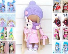 Handmade doll Cloth doll Rag doll Interior doll Tilda doll Fabric doll Art doll Violet doll Soft doll Baby doll Love doll by Master Olga L