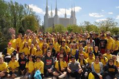 DC-area youth walk 14 miles to the temple! Awesome activity!