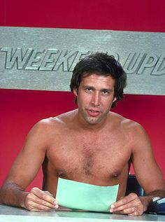 Chevy Chase ~ season of Saturday Night Live ~ Weekend Update Saturday Night Live, Chevy Chase Young, Weekend Update, My Generation, Snl, Actors, Classic Tv, Famous Faces, Funny People