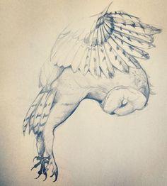 Harry Potter dedicated owl tattoo