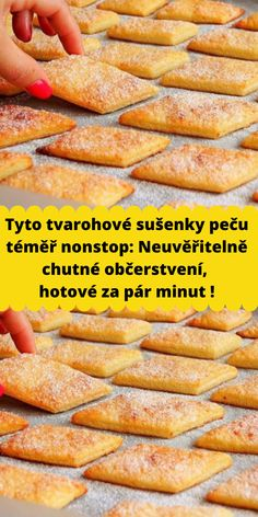 Tyto tvarohové sušenky peču téměř nonstop: Neuvěřitelně chutné občerstvení, hotové za pár minut ! Easy Dinner Recipes, Easy Meals, Dessert Recipes, Healthy Cooking, Healthy Recipes, How Sweet Eats, Pain, Crepes, No Cook Meals