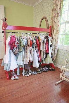 I think we'll need one of these when Ruby is old enough to dress herself! #wardrobe #vintagedresses