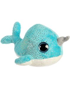 Naiya the Narwhal Plush Stuffed Animal by Aurora World, Children, Blue