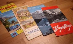 old and vintage Swiss travel brochures