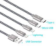 8 Best Multi USB Cable, JASTEK 3.3 Feet (1M) 4 in 1