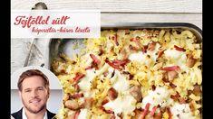 Széll Tamás receptje – Tejföllel sült káposztás-húsos tészta Lidl, Hawaiian Pizza, Potato Salad, Cauliflower, Bacon, Vegetables, Cooking, Ethnic Recipes, Food