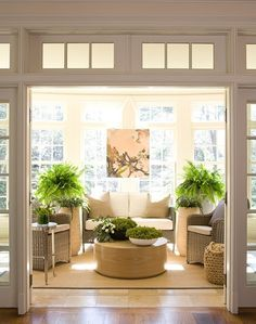 37 Amazing Sunroom Design Ideas - Sunrooms are as popular as ever which makes for a multitude of sunroom ideas. Not to be confused with a four season room, sunroom designs rely on the . Sunroom Decorating, Garden Room, Home, House Styles, House Design, New Homes, Morning Room, Florida Room, House Interior