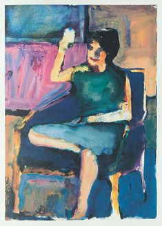 Untitled, gouache on paper, Richard Diebenkorn
