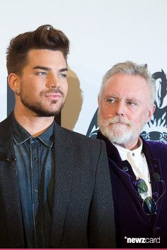 Adam Lambert and Roger Taylor attend the Queen and Adam Lambert photocall at Ritz Carlton on December 11, 2014 in Berlin, Germany.  (Photo by Target Presse Agentur Gmbh/WireImage)