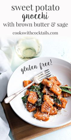 Making gluten free sweet potato gnocchi is one of my favorite ways to spend a Saturday afternoon. Homemade gnocchi tastes so much better than store bought and its a lot easier to make than you might think. Grab a glass of wine and let's make some sweet p Quick Pasta Recipes, Vegetarian Pasta Recipes, Side Dish Recipes, Quick Easy Meals, Real Food Recipes, Vegetarian Italian, Vegetable Recipes, Fall Recipes, Side Dishes