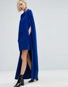 [STYLE UP] ASOS WHITE Mini Dress With Maxi Cape