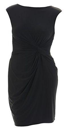 d036f75995e Lauren Ralph Lauren Black Cap Sleeve Jersey Dress (8P)