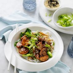 Mushroom and Char Siu Pork Stir Fry