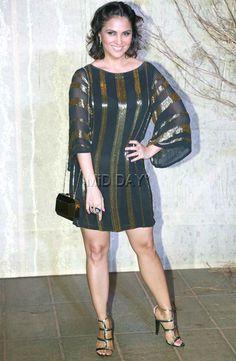 Lara Dutta at Manish Malhotra's grand birthday bash. #Bollywood #Fashion #Style #Beauty #Hot #Sexy
