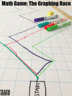 Math games 713046553474266327 - Math Game- the graphing race Hands on learning for classroom or homeschool bfranklin.edu Source by globallearnday Graphing Activities, Math Activities For Kids, Fun Math Games, Numeracy, Paper Games For Kids, Line Game, Line Graphs, Graph Paper, Teaching Math