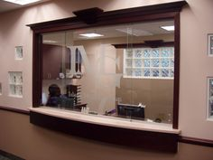 sliding window for doctors office 040113 Customized Glass