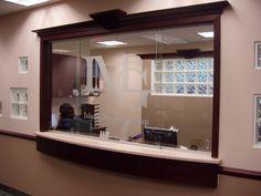 receptionist window | Reception no glass...