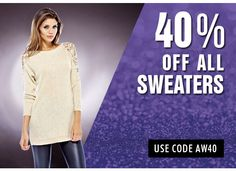 We're running great deals this week! Check us out at www.axparisusa.com and enter code AW40 for 40% off all our sweaters!  #axparisusa #fashion #style  #dresses #fashionista  #weheartit #fashionblogger #newtrends #newcollection #dreamcloset #musthave #lookbook #womensfashion #trendy #dressforless #amazondresses #ootd #girl #sale