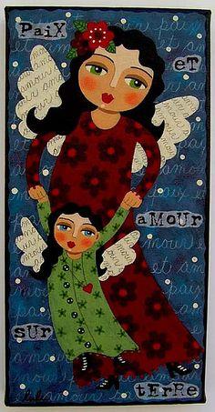 Mother and Daughter Angels by LuLu by MyPinkTurtleStudio, via Flickr