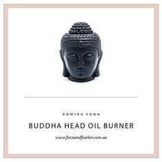 Coming to the new store: Black Buddha Head oil burner... #centralcoastnsw #foxxandfeather #onlinestore #holistic #oilburner #essentialoils #waxmelts #minimalist #bohemian #decor #homewares