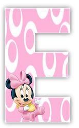 Oh my Alfabetos!: Alfabeto de Minnie Bebe con fondo rosa. Baby Minnnie alphabet