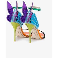Ankle Strap High Heels, High Heels Stilettos, Shoes Heels, Strap Sandals, Fancy Shoes, Crazy Shoes, Sophia Webster Chiara, Mermaid Shoes, Rainbow Sandals