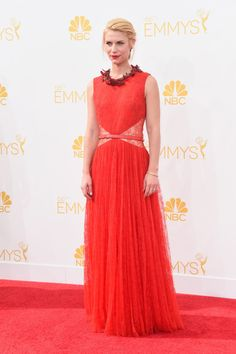 Claire Danes in Givenchy at the 2014 Emmys Red Carpet