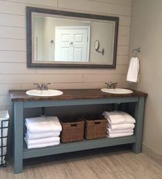 farmhouse style vanity double sink | Pine + Main