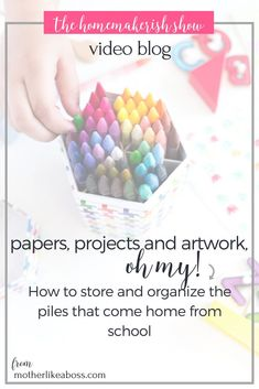 How to store and organize the piles that come home from school. Organizing Paperwork, Playroom Organization, Organizing Your Home, Organization Hacks, Organizing Tips, Clean House Schedule, Apps, House Cleaning Tips, Like A Boss