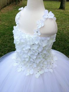 Creamy white hydrangea and tulle tutu by MissSweetPeaBoutique, $135.00