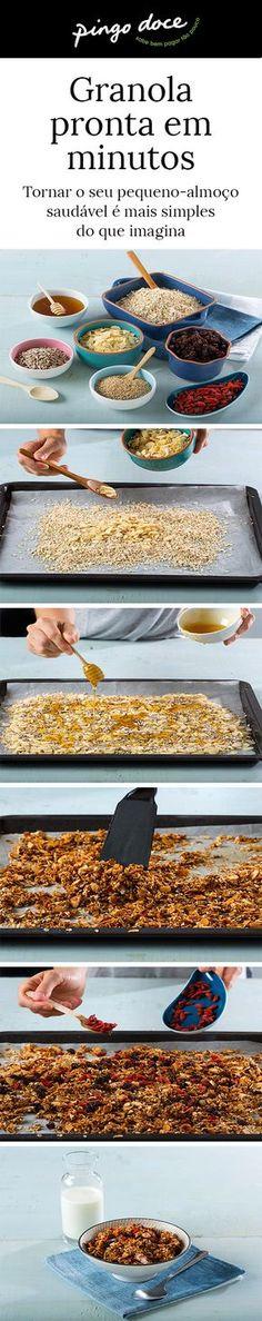 Uma óptima ideia para os pequenos-almoços, ideal para fazer em quantidade e ir usando. Fica especial com iogurte grego Pingo Doce
