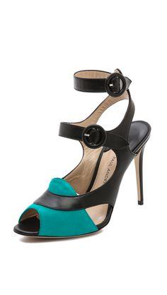b1ba9dde597f54 Paul Andrew Sentinel Heeled Sandals Black Sandals