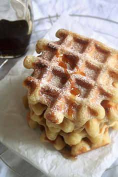 Belgian Waffles with Flemish Biscotti Biscuits, Belgium Food, Travel Belgium, Thermomix Bread, Belgium Waffles, Galette Recipe, Waffle Bar, Breakfast Pastries, Bread Cake