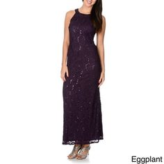 R&M Richards Women's Mocha Sequin Lace Evening Gown   Overstock™ Shopping - Top Rated R & M Richards Evening & Formal Dresses