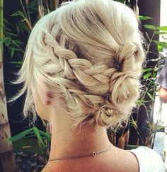 Plaited up-do