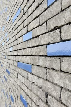 Construction of 225 flats, Sevran, 2013 Brick In The Wall, Brick And Stone, Brick Wall, Detail Architecture, Brick Architecture, Brick Masonry, Brick Facade, Flat Picture, Glazed Brick