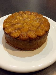 Tamarillo upside down cake made with a friends home grown yellow tamarillos