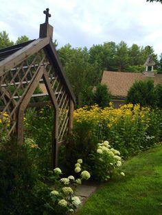 Pergola entrance at Stonehouse Farm, Maine